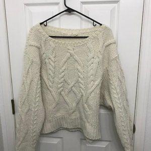 Anthropology -Sleeping on Snow chunky sweater